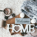 welcome home sign